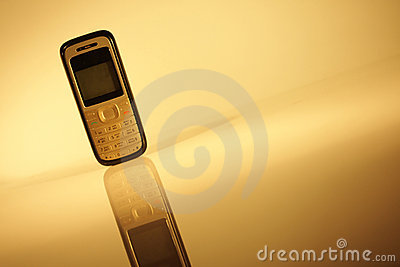 Cell phone on abstract background