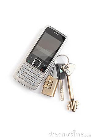 Free Cell Phone And Keys Stock Photo - 7979530