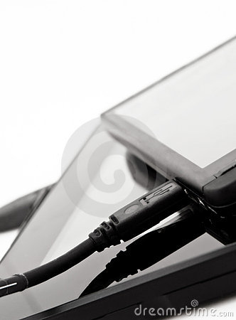 Cell Phone attached to Mobile Device