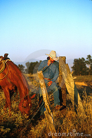 Free Cell Phone Cowboy Stock Images - 985354