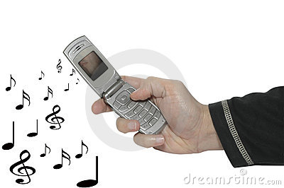 Cell phone in a hand & music 2