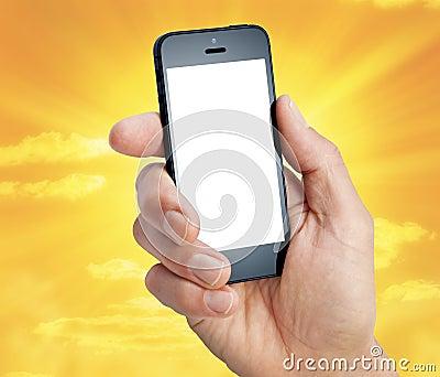 Cell Phone Hand Sky
