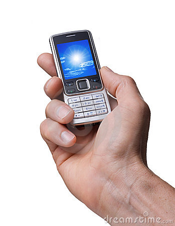 Free Cell Phone In Hand Photo Stock Images - 11235034