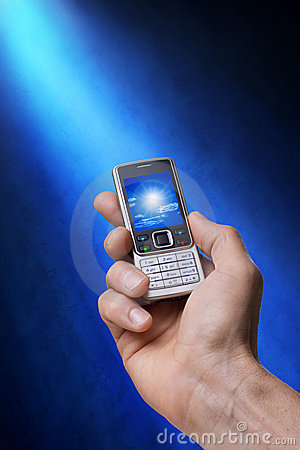 Free Cell Phone In Hand With Photo Royalty Free Stock Photo - 11234985