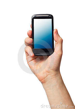 Free Cell Phone In Male Hand Stock Photos - 23677033