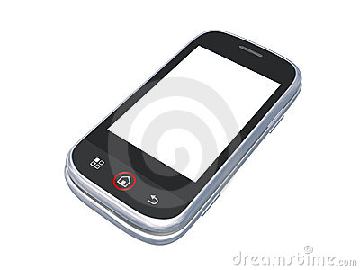 Cell phone isolated on white with clipping path