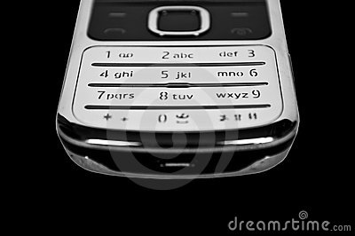 Cell phone keypad close up