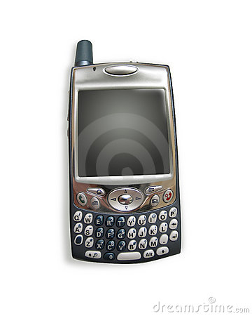 Free Cell Phone / PDA With Clipping Paths Stock Photography - 141532