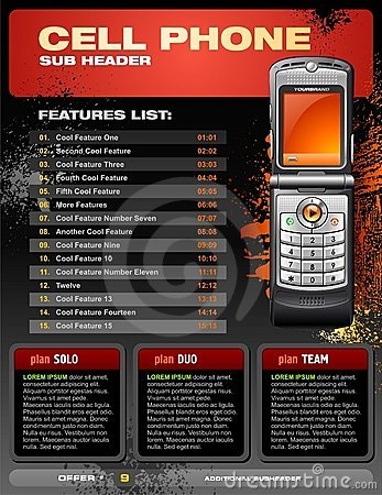Free Cell Phone Promotional Brochure Royalty Free Stock Photos - 8938578