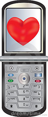 Cell Phone Sending Love
