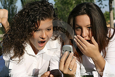 cell phone shocked teens