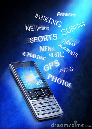 Free Cell Phone Technology Uses Stock Image - 11232891