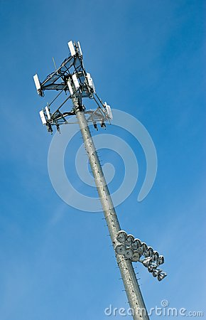 Cell Phone Tower with Sports field Lights