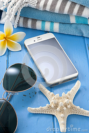 Free Cell Phone Travel Vacation Stock Photography - 30305782
