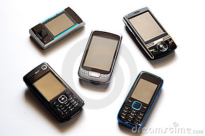 Cell Phones Royalty Free Stock Photos - Image: 19193878