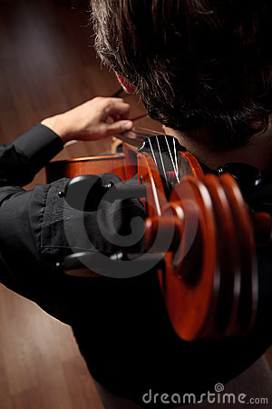 The cello and the cellist
