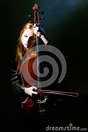 Cello musician, Mystical music