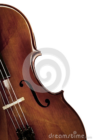 Cello over White