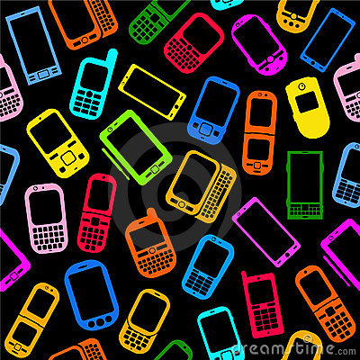Cellphones and Smartphones Seamless Pattern
