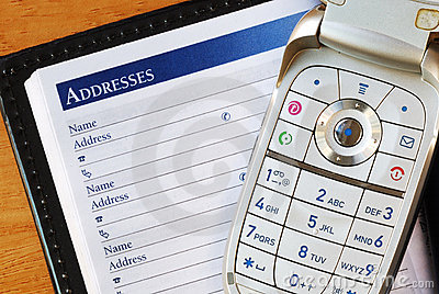 Cellular phone with an address book