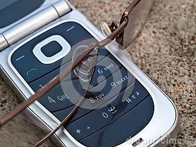 Cellular phone and eye glasses