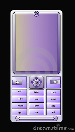 Cellular phone light blue