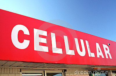Cellular Sign on Convenience Store