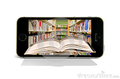 Cellular smart phone books reading online library
