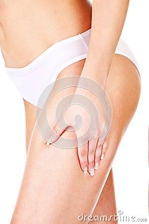 Cellulite on leg