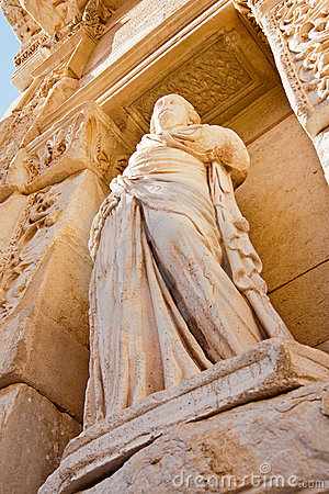 Celsus library statue in Ephesus