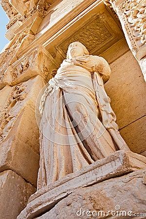 Celsus library statue in Ephesus