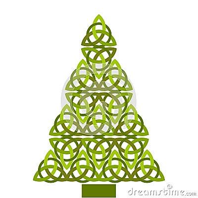 Free Celtic Christmas Tree Royalty Free Stock Photography - 27827977