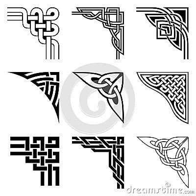 Celtic corners set Vector Illustration
