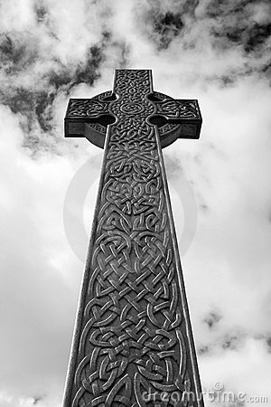 Celtic Cross in Black and white / infrared