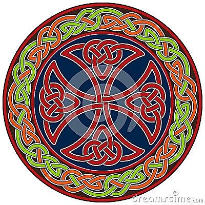 Celtic cross design element