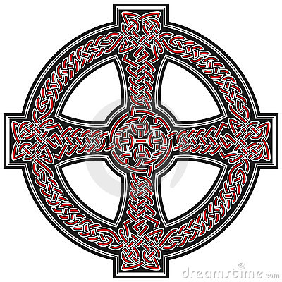 Celtic cross design element