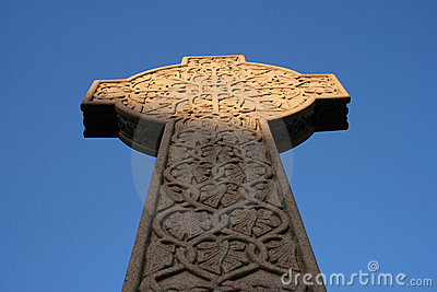 Celtic cross in Necropolis Glasgow