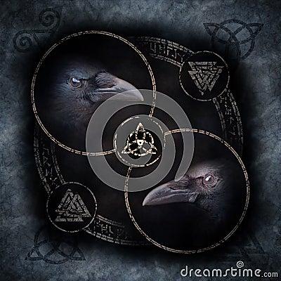 Free Celtic Crow Circle Stock Photos - 85488823