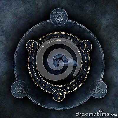 Free Celtic Crow Prophecy Stock Photo - 88706130