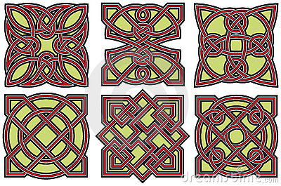 Celtic design elements set