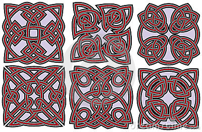 Celtic design elements set