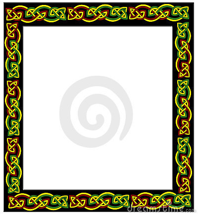 Celtic frame Stock Photo