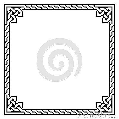 Celtic frame, border pattern -