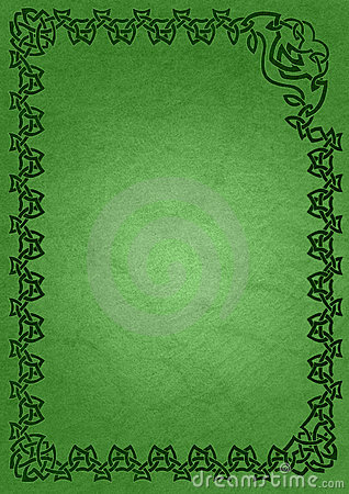 Celtic frame - green