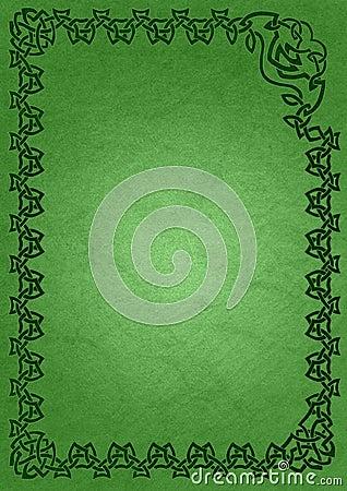 Celtic frame - green