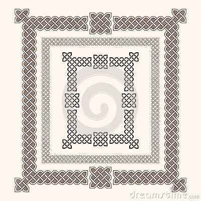 Celtic Frames Vector Illustration