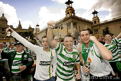 Celtic Glasgow FC supporters Editorial Photography
