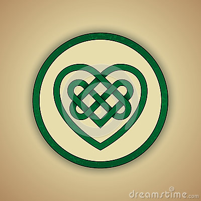 celtic heart knot symbol of love stock vector image 39715959. Black Bedroom Furniture Sets. Home Design Ideas