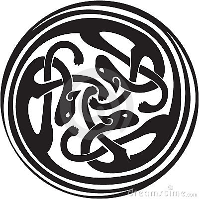Celtic interwoven animals