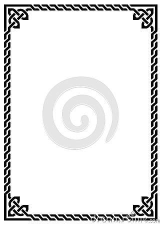 celtic knot braided frame rectangle stock illustration